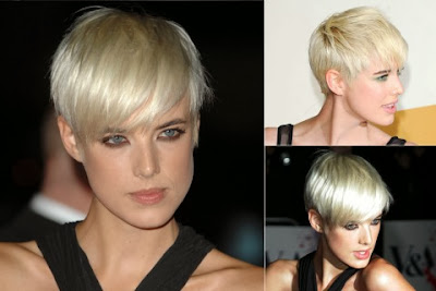 Agyness Deyn short haircut with bangs