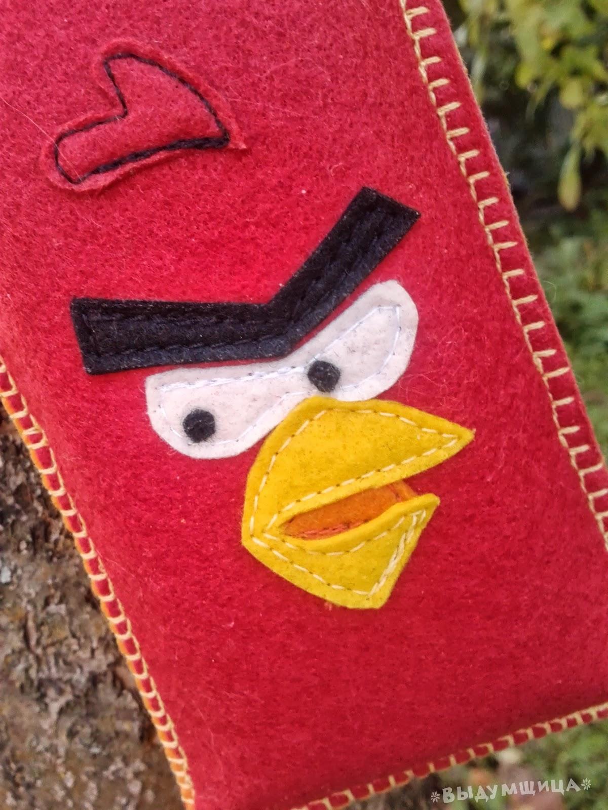аппликация из фетра angry birds
