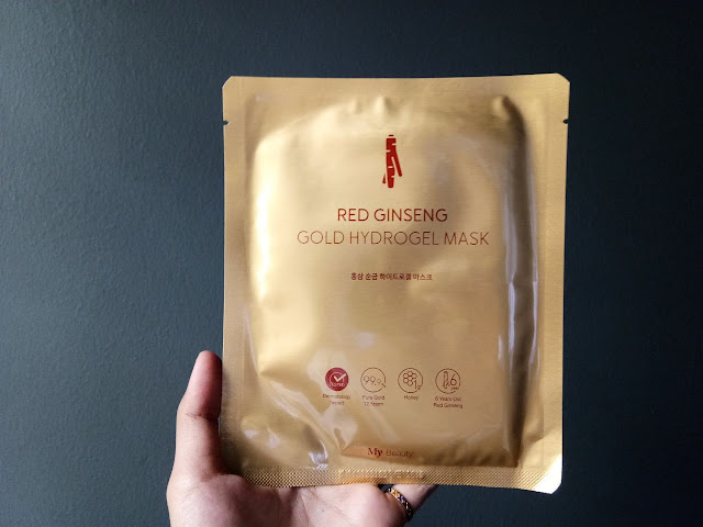 My Beauty Mask Review - Gold Hydrogel Mask & Rice Sheet Mask from My Product Co