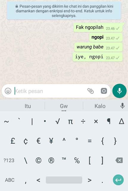 Membuat Variasi Tulisan di Whatsapp