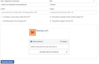 Cara Memasang Fans Page Facebook Tampil di Blog