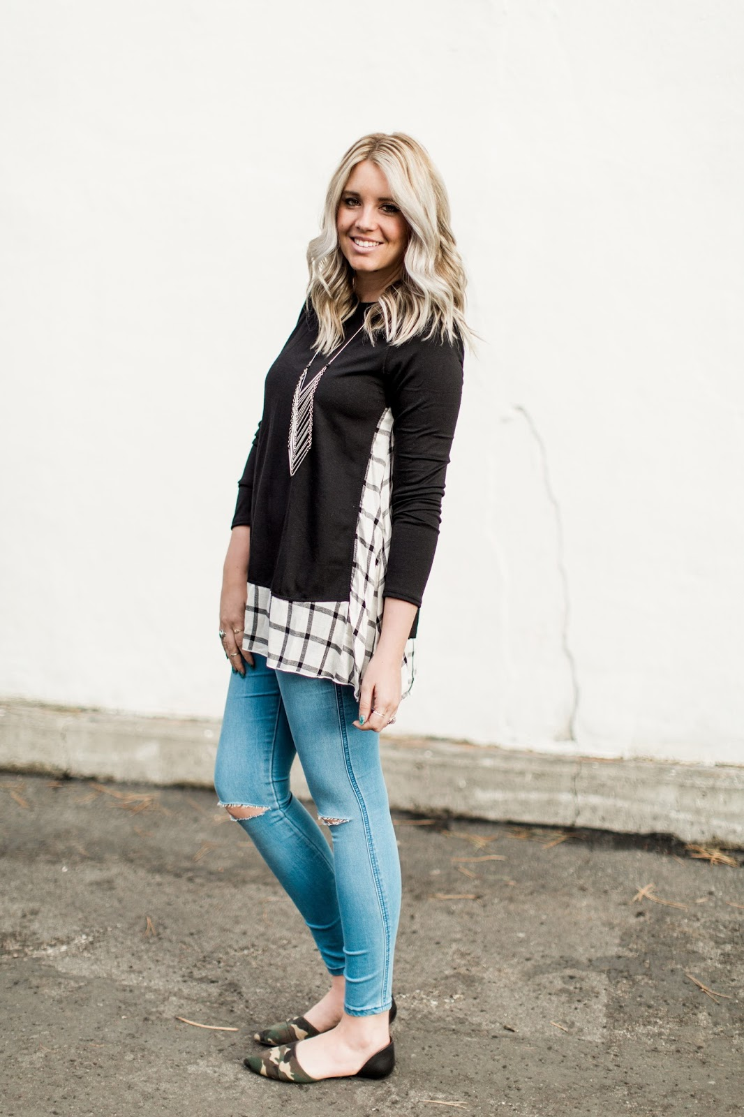 Plaid Details, ASOS Jeans, Utah Fashion Blogger