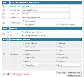 Form privacy generator