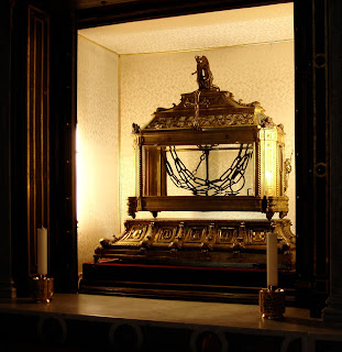 The chains said to have bound St Peter are on display in the Church of San Pietro in Vincoli