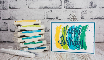 Bright Rainbow Birthday Card - buy Stampin' Up! UK Supplies used to make this card here