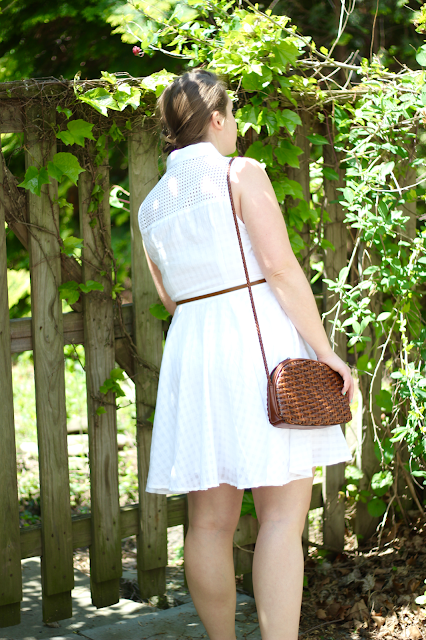 White Eyelet Shirtdress 6