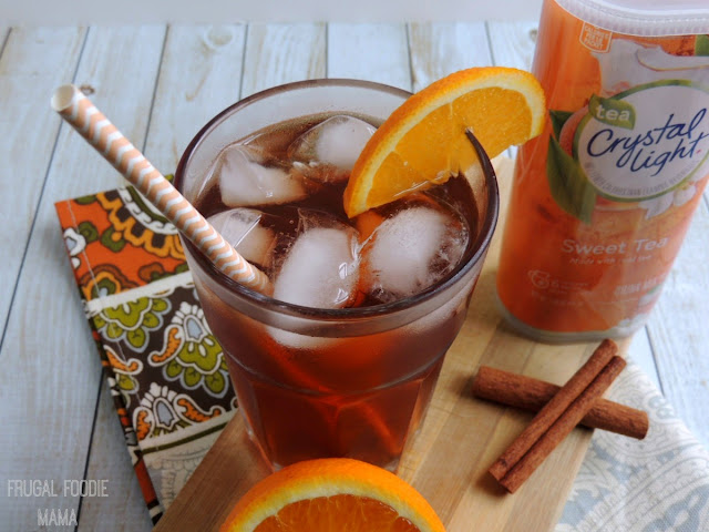 Orange & Cinnamon Infused Iced Tea | Frugal Foodie Mama
