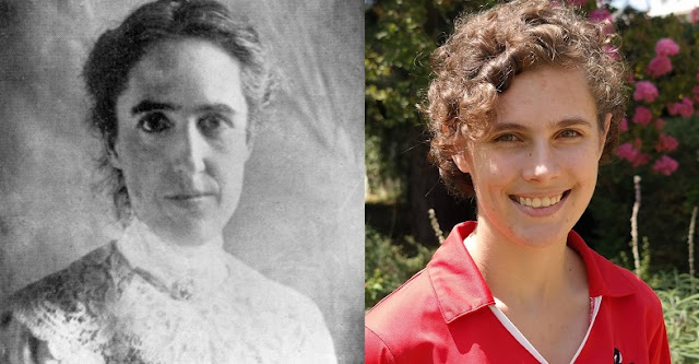 Henrietta Leavitt (left) and Kate Hartman (right) — two astronomers a century apart studying Cepheid variable stars  Image Credit: Cynthia Hunt (Carnegie Institution for Science)