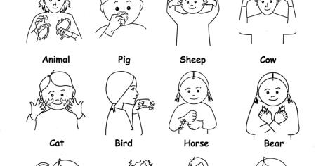 Gorgeous image with regard to sign language animals printable