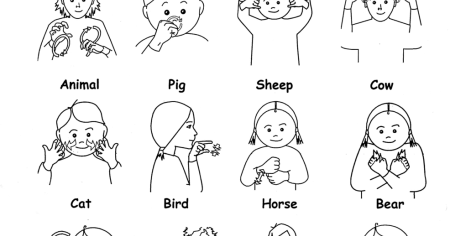 It's just a graphic of Ambitious Asl Animal Signs Printable
