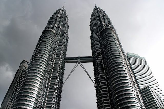 View from the bottom of the Petronas Towers - Malaysia