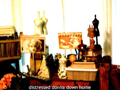 vintage finds, decluttering, mannequins, jars