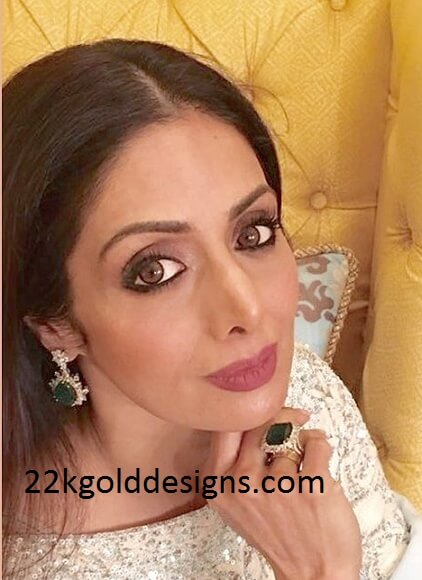 Sridevi in Zambian Emerald Jewellery