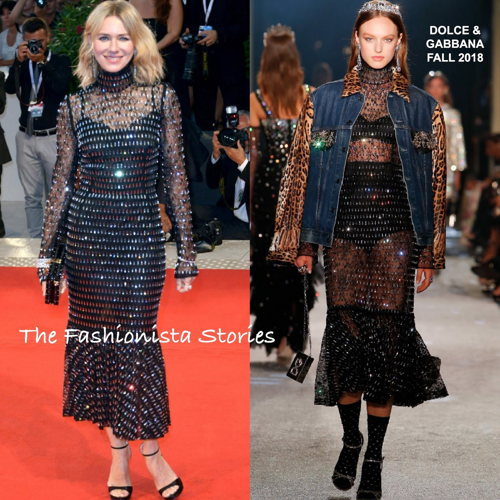 Naomi Watts In Dolce & Gabbana At The 'At Eternity's Gate