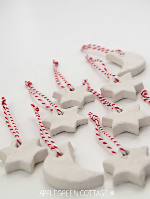 Air Dry Clay Christmas ornaments