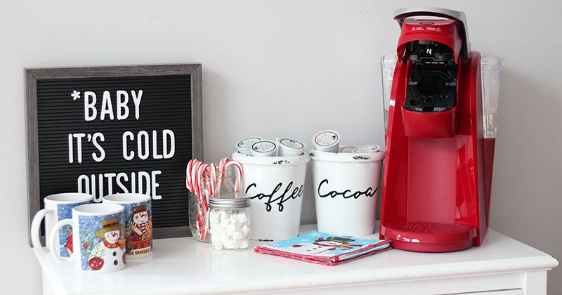 How to Make a Cozy Cocoa & Coffee Bar at Home