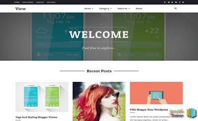 View - скачать бесплатно шаблон для blogger blogspot