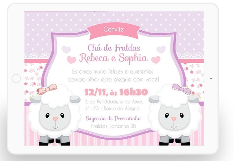 Convites Silverbeco Ovelhinha