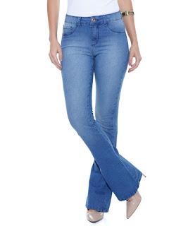 calça de cós alto feminina