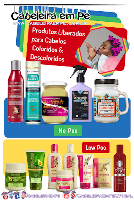 Produtos No Poo e Low Poo para Cabelos Crespos Coloridos e Descoloridos