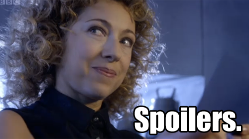 River Song from Doctor Who is saying Spoilers