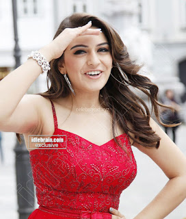 Hansika Motwani in lovely Red Mini Dress Dance Stills 12 .xyz.jpg