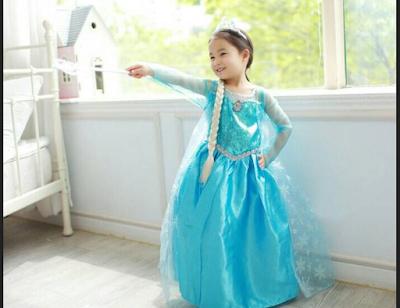 "Gaun Princess Elsa ""Frozen"""
