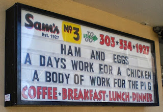 Ham and Egger Sign at Sam's Diner in Denver 2009