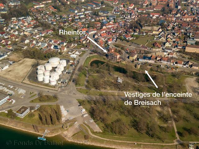 Breisach am Rhein - vestiges de l'enceinte du 17e s.