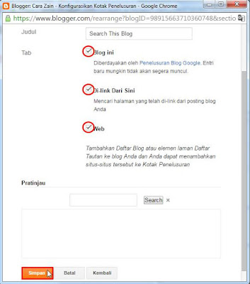 Cara Membuat Kotak Pencarian (Search Box) Di Blog Keren Terbaru