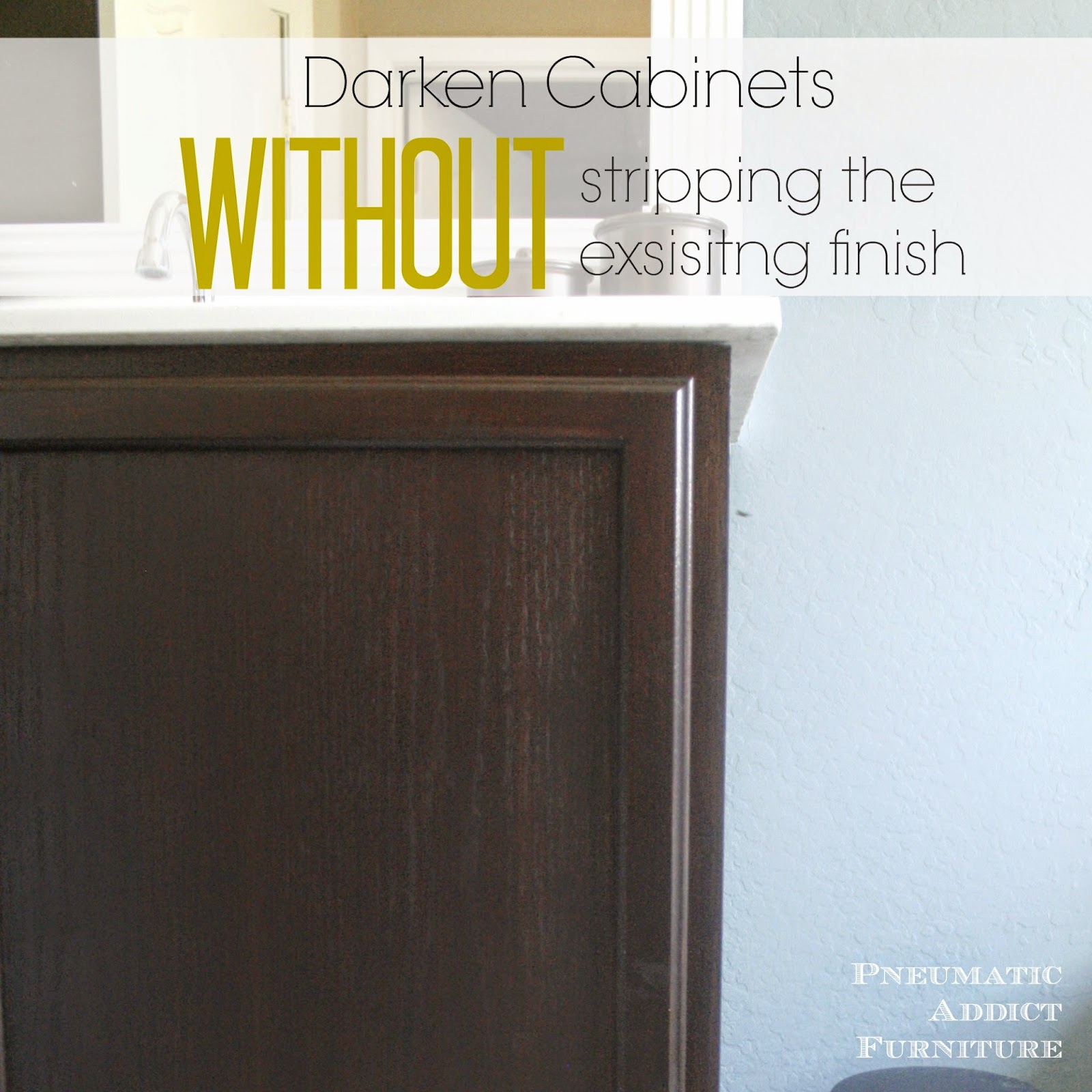 refinishing oak cabinets without sanding kitchen cabinet stain Darken Cabinets WITHOUT Stripping the Existing Finish
