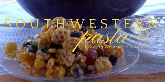 A pasta salad with a southwestern twist and just the right amount of heat.