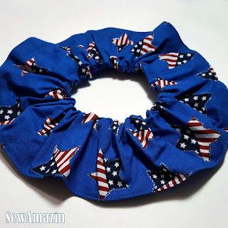 Patriotic Stars Dog or Cat Scrunchie Ruffle Collar