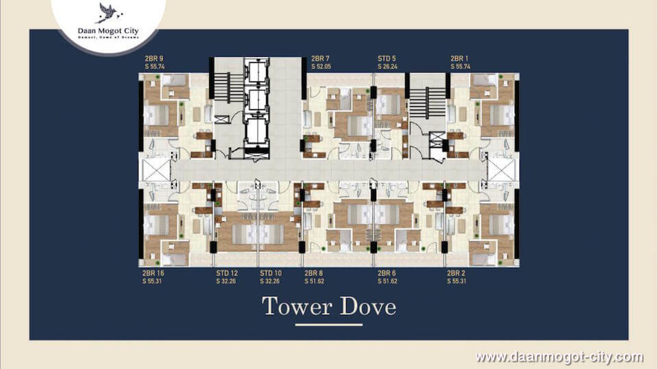 Apartemen DAMOCI Tower Dave Floor Plan