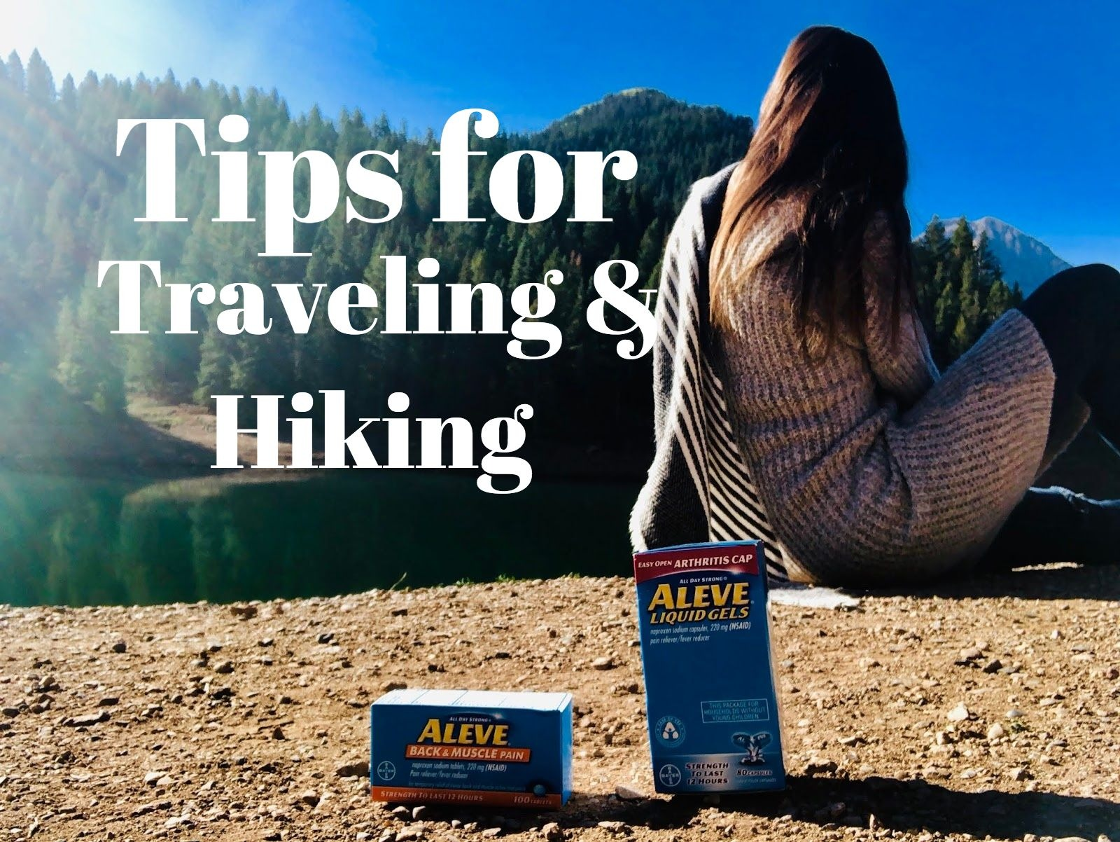 aleve gel tabs, aleve muscle and back relief, aleve tablets, canada, hiking, hiking in canada, lake, traveling, vancouver,