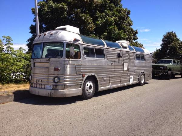 used rvs 1957 mci bus courier 96 silversides skyview for sale by owner. Black Bedroom Furniture Sets. Home Design Ideas