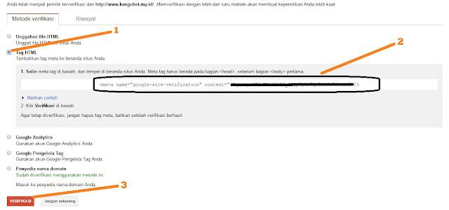 Membuat Blog Cepat Terindex di Google dengan Mendaftarkan di Google Webmasters