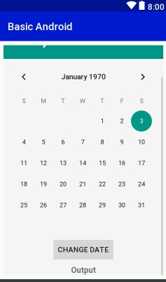 Layout View DatePicker Example