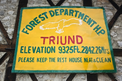 Triund elevation board, Dharamsala