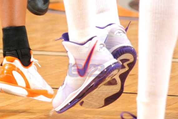 370c8a9fb460 Here is a look at the Nike LeBron 8 V 2 – Diana Taurasi Mercury Home PE  Sneaker which is real hot! Peep a gang of photos after the jump.
