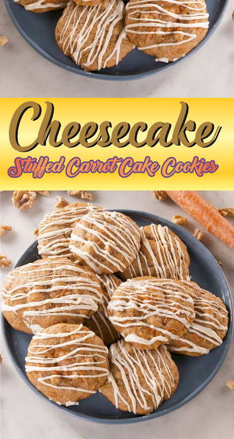 Cheesecake-Stuffed Carrot Cake Cookies