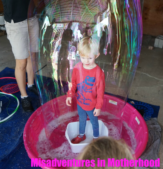 bubble themed birthday party