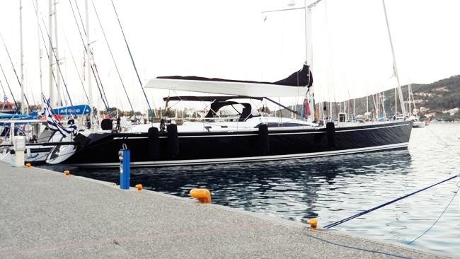Skiathos town yachts