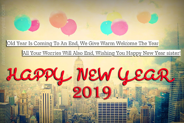 New Year 2019 Messages for Sister