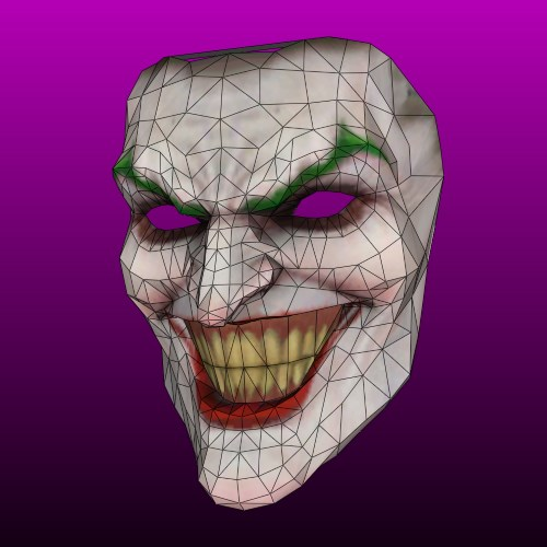 joker mask template 3d papercraft joker mask