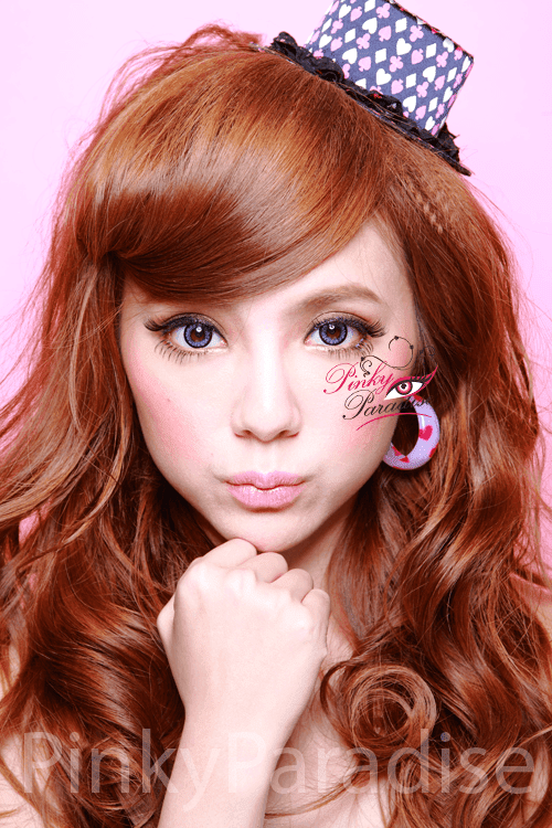 Geo Angel Violet Circle Lenses Model 2