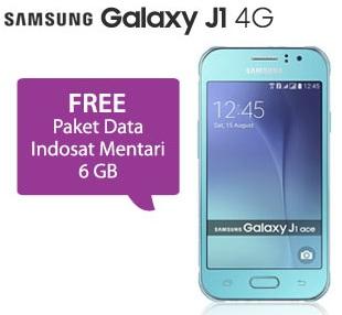 Samsung Galaxy J1 Ace promo bonus Paket Data Indosat Mentari 6 GB