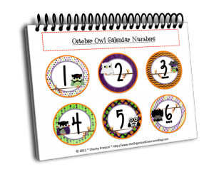 Want your set of October Calendar Numbers?
