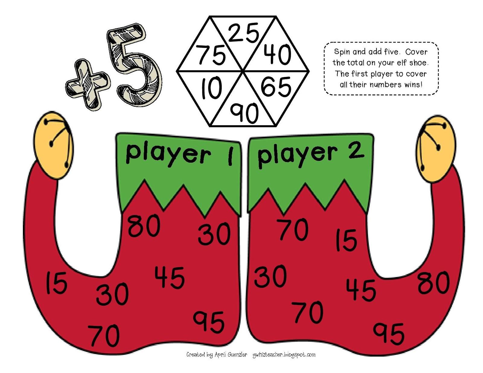 Gwhizteacher Christmas Math Games