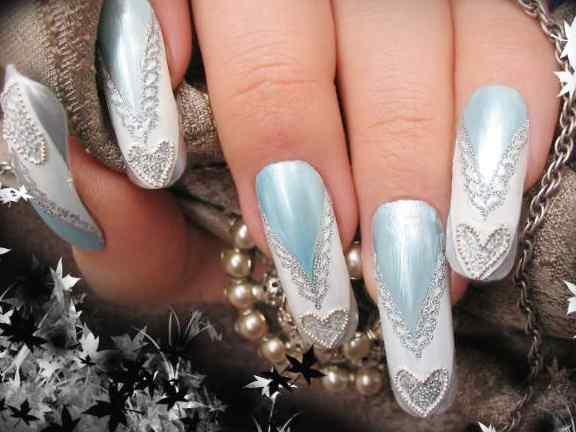 Pink Love Nail Art Designs